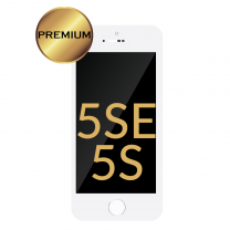 iPhone 5S/5SE LCD Assembly (PREMIUM REFURBISHED) (WHITE) - 5501200423416