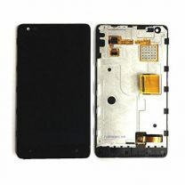 Nokia Lumia 900 LCD Black With Frame OEM - 5508050123415