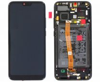 Genuine Honor 10 (COL-L29) Black LCD Screen & Digitizer with Battery - 02351XBM
