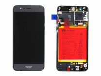 Official Honor 8 Midnight Black LCD Screen & Digitizer with Battery - 02350VAS