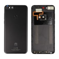 Genuine Huawei Y7 2018 London-L01 Black Rear / Battery Cover with Fingerprint Sensor - 97070TPS