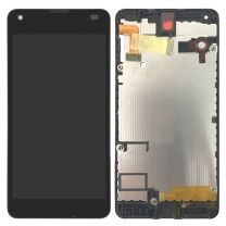 Nokia Lumia 550 LCD Black With Frame OEM - 5508211923455