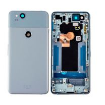 Google Pixel 2 Housing with Back Door and Small Parts Pre-installed (BLUE)