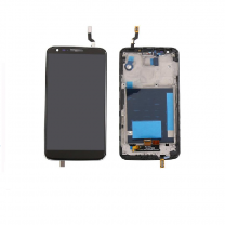 LG G2 D802 LCD Black With Frame OEM - 5505453123462
