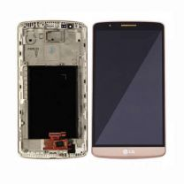 LG G3 D855 LCD Gold With Frame OEM - 402025647