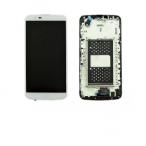 LG K10 LCD White With Frame OEM - 402025650