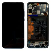 Official Huawei P30 Lite Midnight Black LCD Screen & Digitizer with Battery - 02352RPW