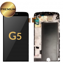 LG G5 LCD Assembly with Frame (BLACK) OEM - 402025654