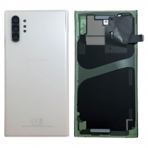Official Samsung Galaxy Note 10+ SM-N975 Aura White Battery Cover with Adhesive - GH82-20588B
