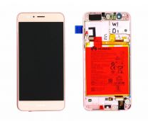 Official Honor 8 Pink LCD Screen & Digitizer with Battery - 02350VAT