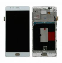 One Plus 3T LCD Assembly White OEM - 5516001223570