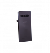Official Samsung Galaxy S10+ G975 Ceramic Black - Replacement Battery Cover - GH82-18867A