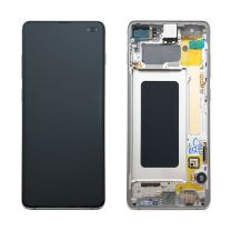 Official Samsung Galaxy S10+ G975 Prism White LCD Screen & Digitizer - GH82-18849B