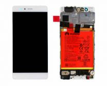 Genuine Huawei P9 Silver / White LCD Screen & Digitizer - 02350RKF