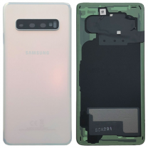 Official Samsung Galaxy S10 G973 - Replacement Prism White Battery Cover (No Adhesive) - GH82-18378F