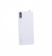 Official Huawei P30 Lite Pearl White Battery Cover with Fingerprint Sensor - 02352RQB
