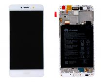 Genuine Huawei Y7 2017 White LCD Screen & Battery with Battery - 02351GJV