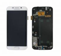 Genuine Samsung Galaxy S6 Edge G925F White LCD Screen & Digitizer - GH97-17162B