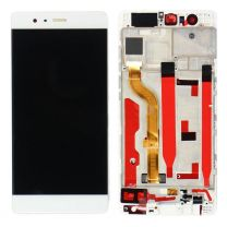 Huawei P9  LCD Screen & Digitizer With Frame White/Silver OEM - 400063
