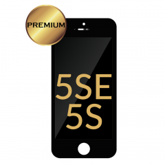 iPhone 5S/5SE LCD Assembly (PREMIUM REFURBISHED) (BLACK) - 5501200423415