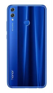 Official Honor 8x Blue Battery Cover with Fingerprint Sensor - 02352END