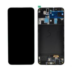 Genuine Samsung Galaxy A20 (SM-A205F) lcd and touchpad in black - Part no: GH82-19571A