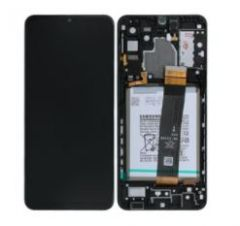 Genuine Samsung Galaxy A32 5G (A326B) Complete lcd with touchpad and frame incl Battery in Black - Part no: GH82-25453A / GH82- 25454A