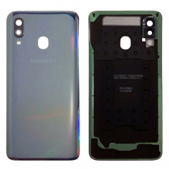 Genuine Samsung Galaxy A40 SM-A405 Black Battery Cover - GH82-19406A