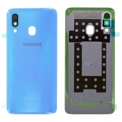 Genuine Samsung Galaxy A40 SM-A405 Blue Battery Cover - GH82-19406C