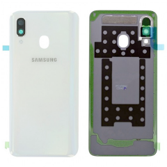 Genuine Samsung Galaxy A40 SM-A405 White Battery Cover - GH82-19406B