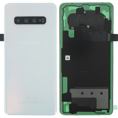 Official Samsung Galaxy S10+ G975 Prism White Battery Cover - GH82-18406F