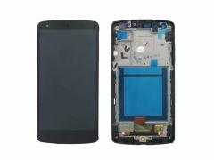LG Nexus 5 (D820) LCD Black With Frame OEM - 5505701434527