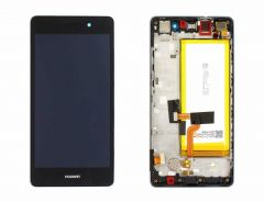 Official Huawei P8 Lite ALE-L21 Black LCD Screen & Digitizer with Battery - 02351LLB