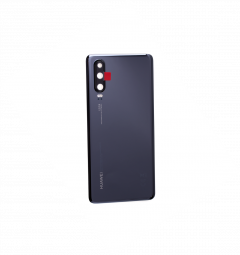 Official Huawei P30 Black Battery Cover with Adhesive - 02352NMM