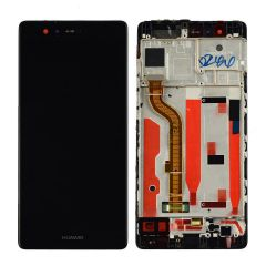 Huawei P9 LCD Screen & Digitizer With Frame Black OEM - 400062