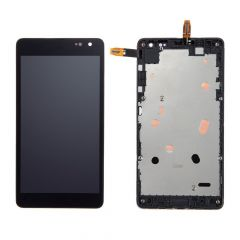 Nokia Lumia 535 LCD Black With Frame  OEM - 5508010543521