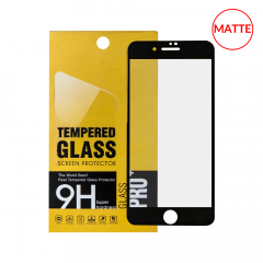 iPhone 8P/7P/6P/6SP Matte Screen Protector Tempered Glass (2.5D) (BLACK)