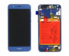 Official Honor 8 Blue LCD Screen & Digitizer with Battery - 02350USN