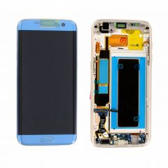 Genuine Samsung Galaxy S7 Edge G935 Coral Blue LCD Screen & Digitizer Complete - GH97-18533G