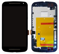 Motorola Moto G2 LCD Black With Frame OEM - 5507011153425