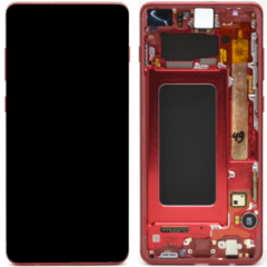 Official Samsung Galaxy S10+ G975 Cardinal Red LCD Screen & Digitizer - GH82-18849H