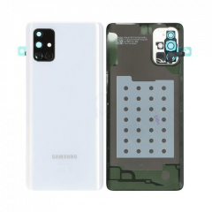 Genuine Samsung Galaxy A71 SM-A715 Silver Battery Cover with Adhesive - GH82-22112B