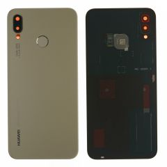 Official Huawei P20 Lite Platinum Gold Battery Cover with Fingerprint Sensor - 02351WTG