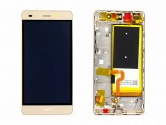 Official Huawei LCD Display Module P8 Lite (ALE-L21), Gold, 02350YKE
