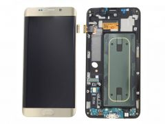 Genuine Samsung Galaxy S6 Edge+ G928F Gold LCD Screen & Digitizer Inc Home Key, Charger Port & Headphone Jack - GH97-17819A