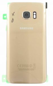 Genuine Samsung Galaxy S7 G930 Gold Battery Cover & Adhesive - GH82-11384C