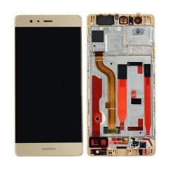 Huawei P9 LCD Screen & Digitizer With Frame Gold OEM - 400060