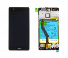 Official Huawei P9 Plus Grey LCD Screen & Digitizer with Battery - 02350SUS