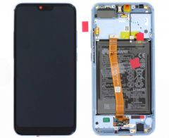 Genuine Honor 10 (COL-L29) Phantom Blue LCD Screen & Digitizer with Battery - 02351XBP