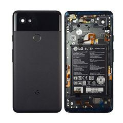 Google Pixe2 XL 6.0 Housing with Back Door and Small Parts & Battery Pre-installed (BLACK)